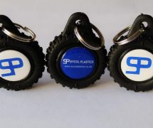 Tyre Key Ring with insert